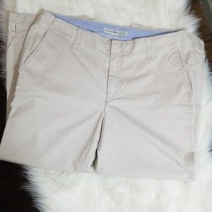 Tommy Hilfiger Cream Embroided Golf Pant Capri S12